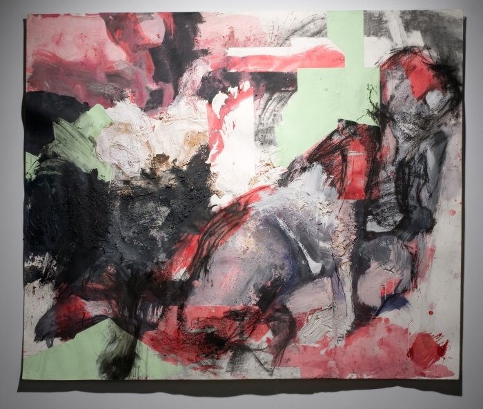 "52x60"", Mixed media on paper, Number 3"